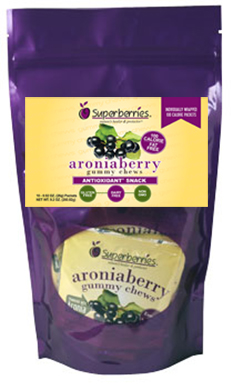 100 Cal. Aronia Gummy Chews (10)100 Calorie Packs per bag