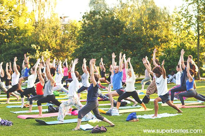Superberries Blog Outdoor Yoga