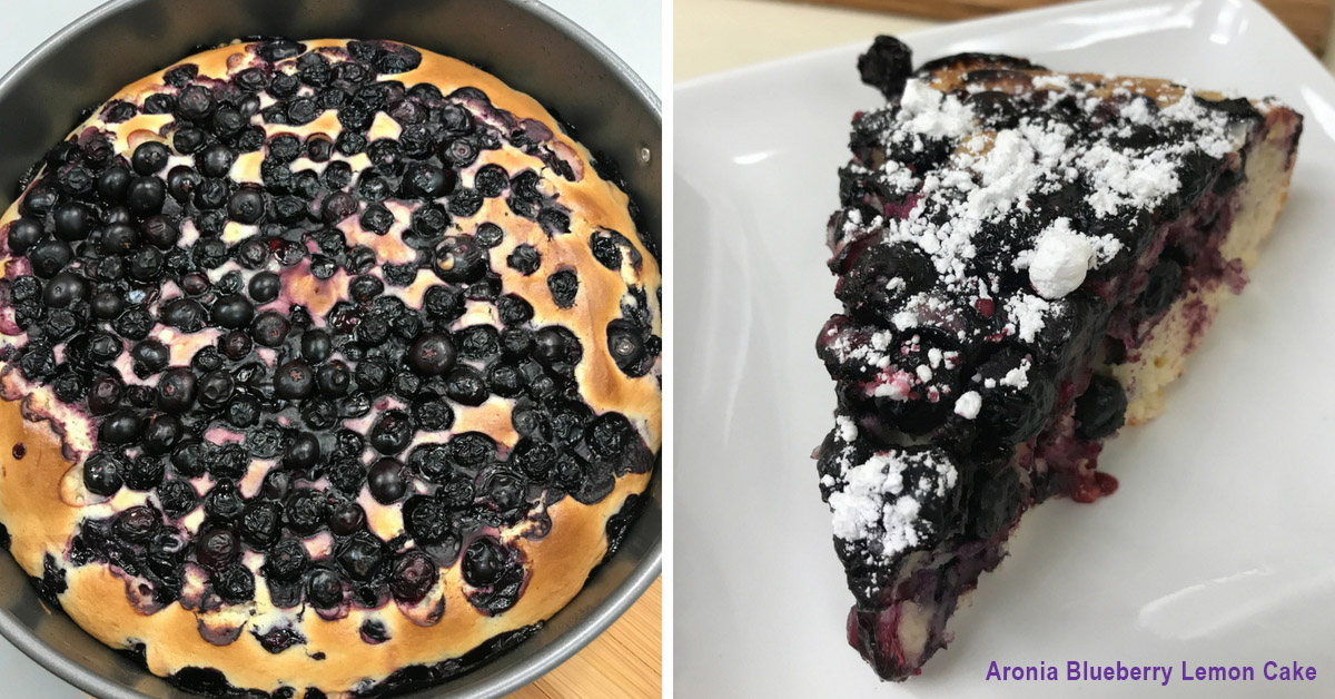 Aronia Blueberry Lemon Cake