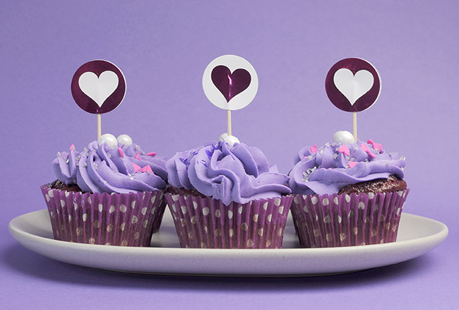 Superberries Purple Powered Cupcakes