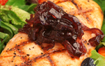 Cedar Planked Salmon Spiced Berry Relish