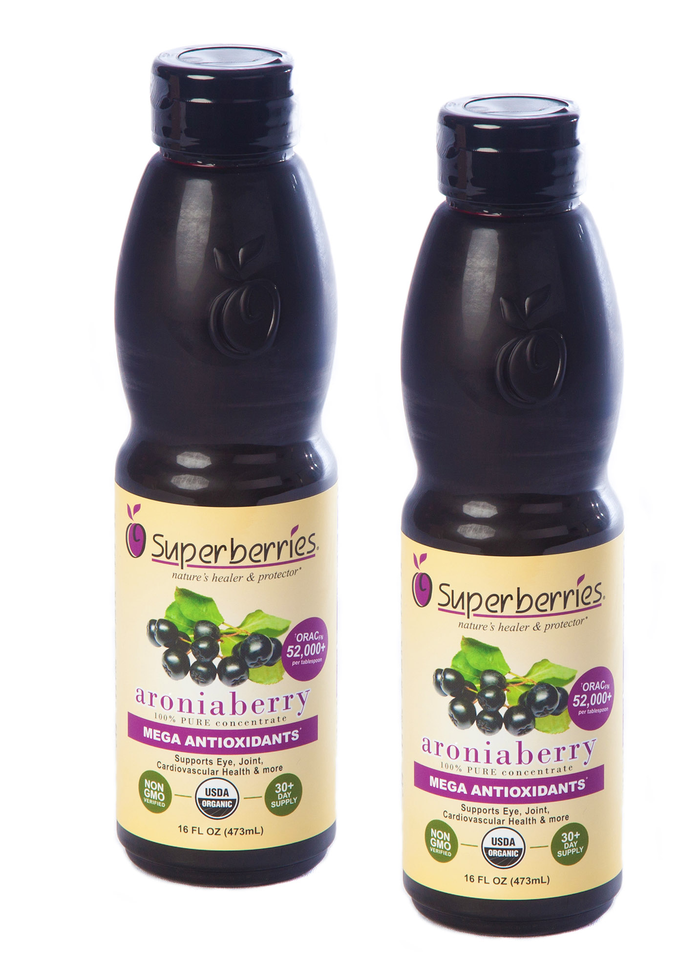 Organic Aroniaberry Concentrate - 16 oz. bottle  (2 PackW)