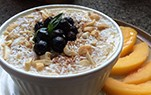Aronia Peach Smoothie Bowl